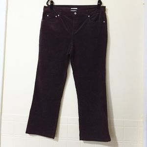 Jones New York Sport Black Corduroy Pants Size: 18